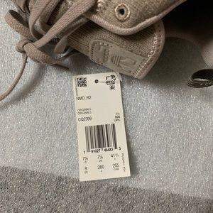 New Men's Adidas NMD R2 US 8 Vapor Grey Beige Tan NWT